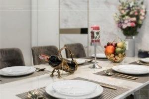 thiết kế thi công nội thất chung cư - phòng khách bếp 11