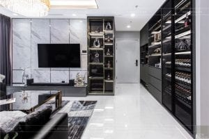 thiết kế thi công nội thất chung cư - phòng khách bếp 7