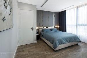 thiết kế thi công nội thất chung cư - phòng ngủ master 2