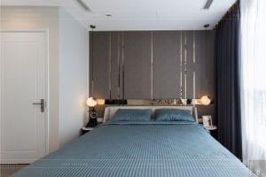 thiết kế thi công nội thất chung cư - phòng ngủ master 3
