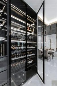 thiết kế thi công nội thất chung cư - tủ rượu 2