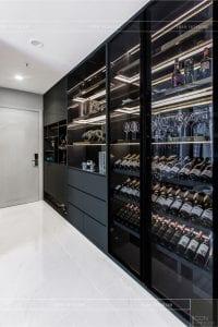 thiết kế thi công nội thất chung cư - tủ rượu 1