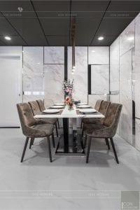 thiết kế thi công nội thất chung cư - phòng khách bếp 10