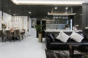 thiết kế thi công nội thất chunng cư chung cư - phòng khách bếp 2