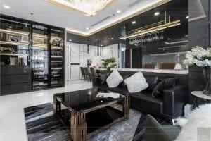 thiết kế thi công nội thất chung cư - phòng khách bếp 5