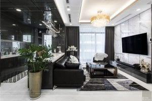 thiết kế thi công nội thất chung cư - phòng khách bếp 6