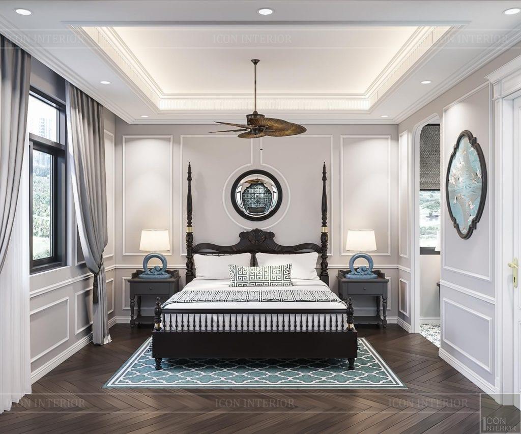 Phòng ngủ Indochine Style màu tươi tắn