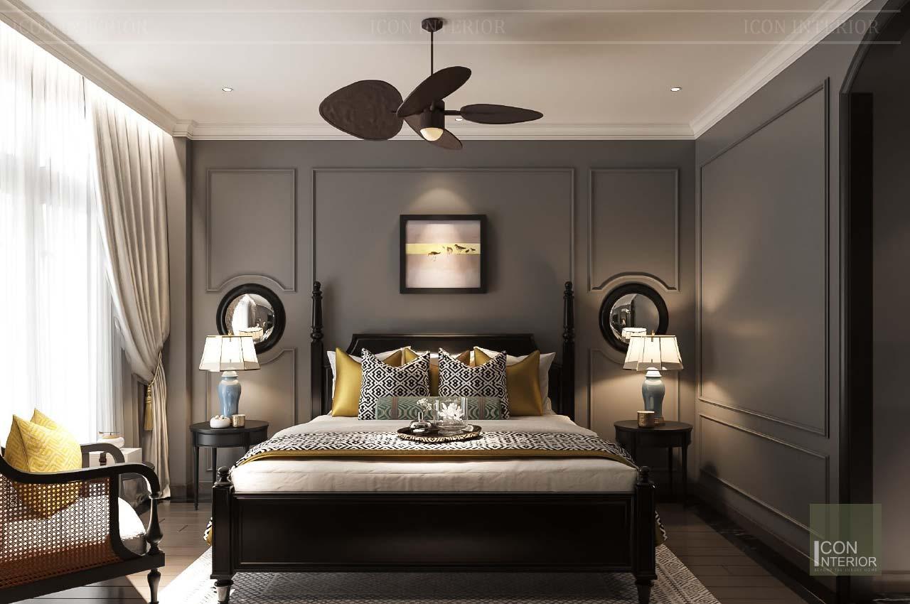 giường phong cách indochine