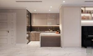 phong cách thiết kế hiện đại châu âu luxury 6 - phòng khách bếp 9