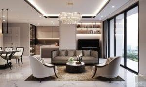 phong cách thiết kế hiện đại châu âu luxury 6 - phòng khách bếp 4