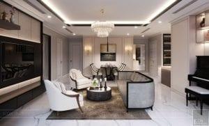phong cách thiết kế hiện đại châu âu luxury 6 - phòng khách bếp 5