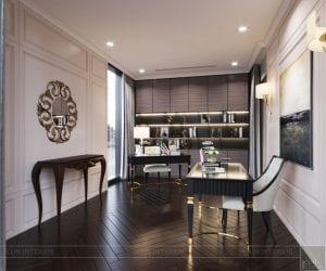 phong cách thiết kế hiện đại châu âu luxury 6 - phòng làm việc 1