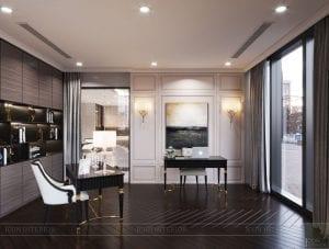 phong cách thiết kế hiện đại châu âu luxury 6 - phòng làm việc 2
