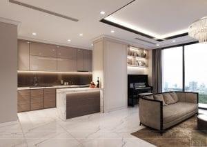 phong cách thiết kế hiện đại châu âu luxury 6 - phòng khách bếp 8