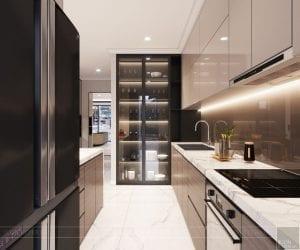 phong cách thiết kế hiện đại châu âu luxury 6 - phòng khách bếp 11