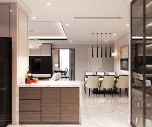 phong cách thiết kế hiện đại châu âu luxury 6 - phòng khách bếp 10