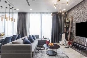 thi công nội thất căn hộ chung cư 3 phòng ngủ - phòng khách bếp 5