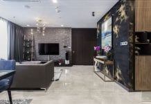 thi công nội thất căn hộ chung cư 3 phòng ngủ - phòng khách bếp 2
