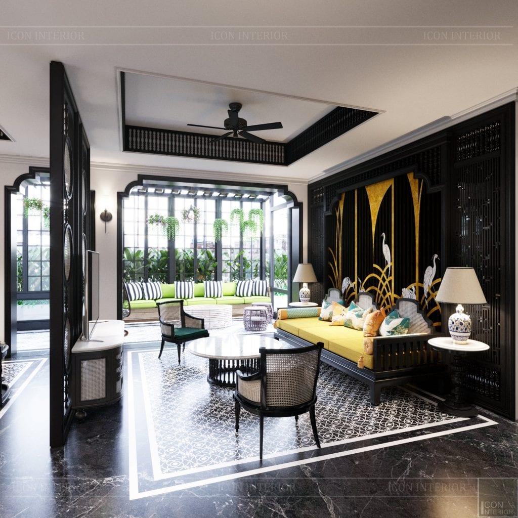 Thiết kế biệt thự phong cách Đông Dương