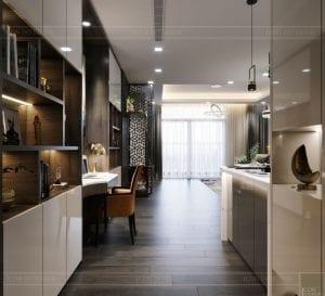 thiết kế park 6 vinhomes central park - phòng khách bếp 1
