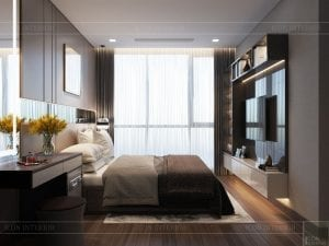 thiết kế park 6 vinhomes central park - phòng ngủ master 2