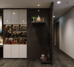 thiết kế park 6 vinhomes central park - phòng khách bếp 3