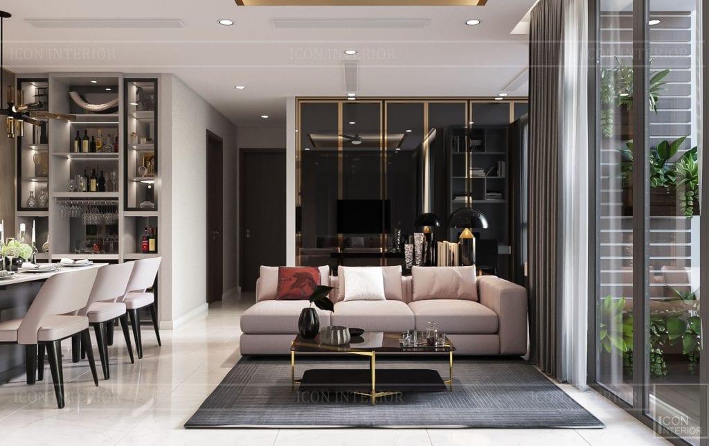 thiết kế nhà phong cách hiện đại - phòng khách 5