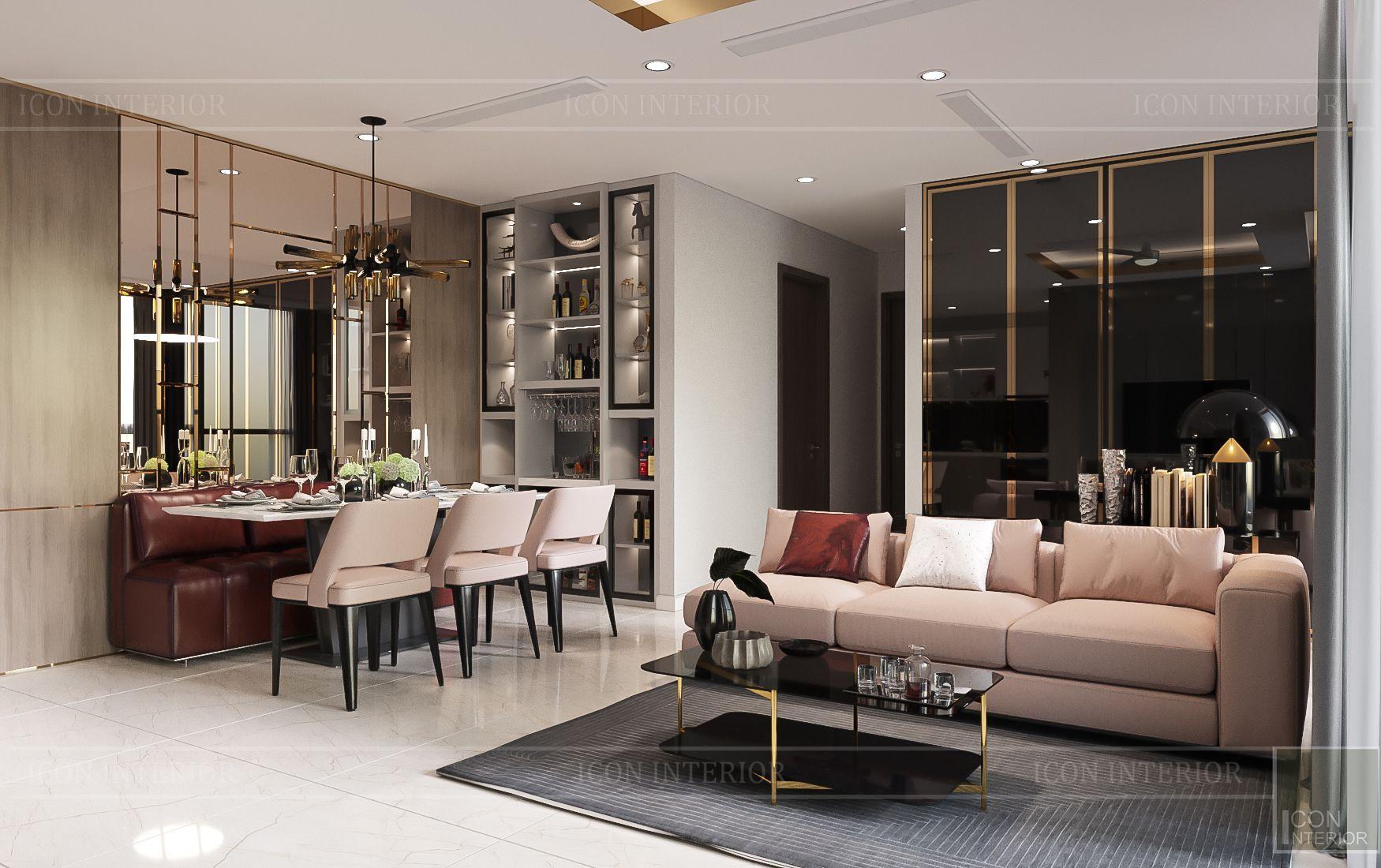 thiết kế nhà phong cách hiện đại - phòng khách 4