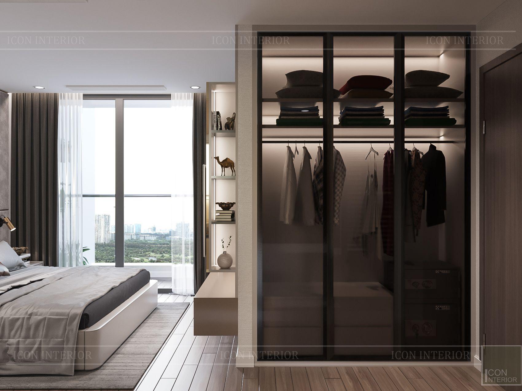 thiết kế nhà phong cách hiện đại - phòng ngủ master 1