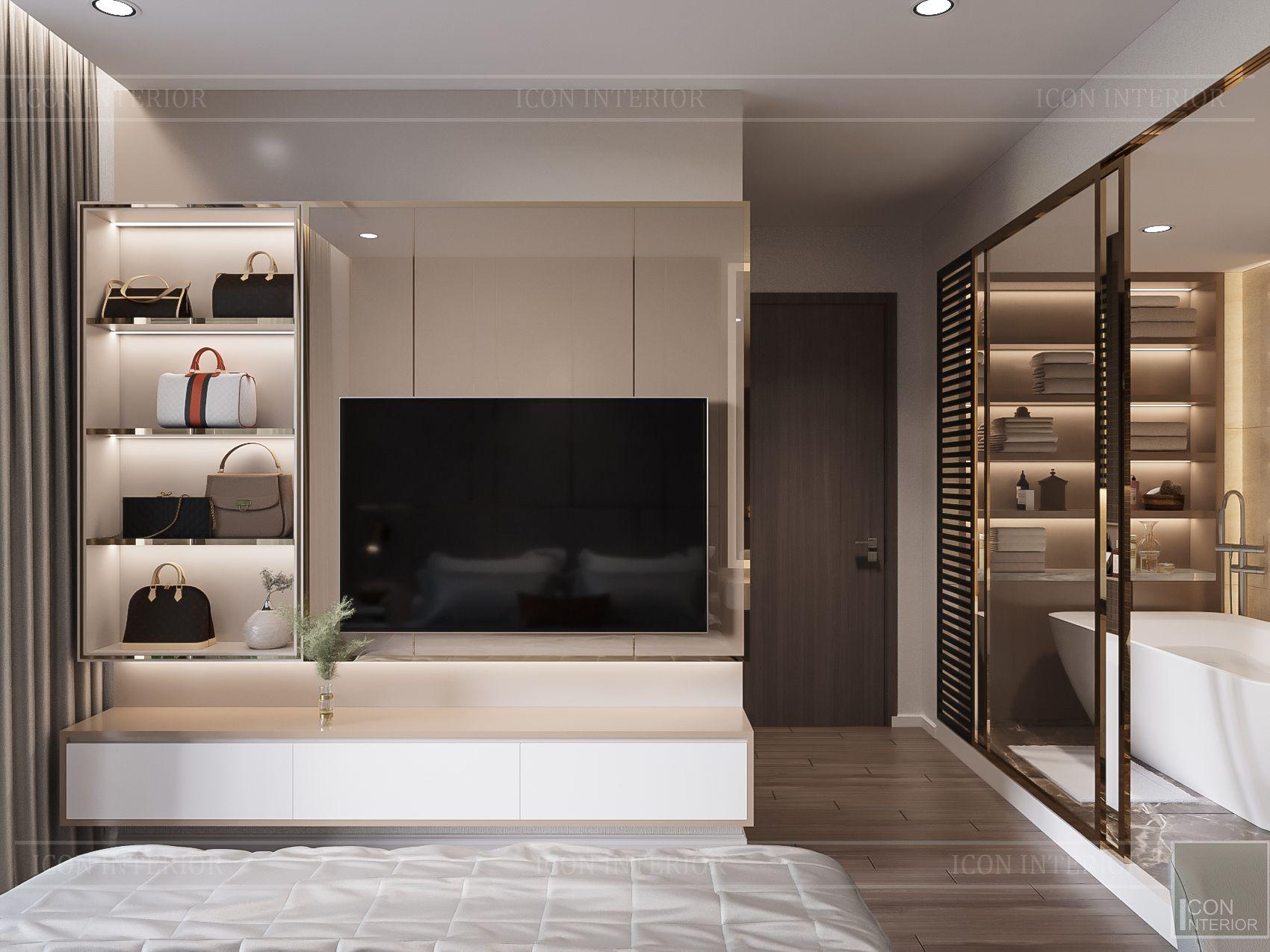 thiết kế nhà phong cách hiện đại - phòng ngủ master 4