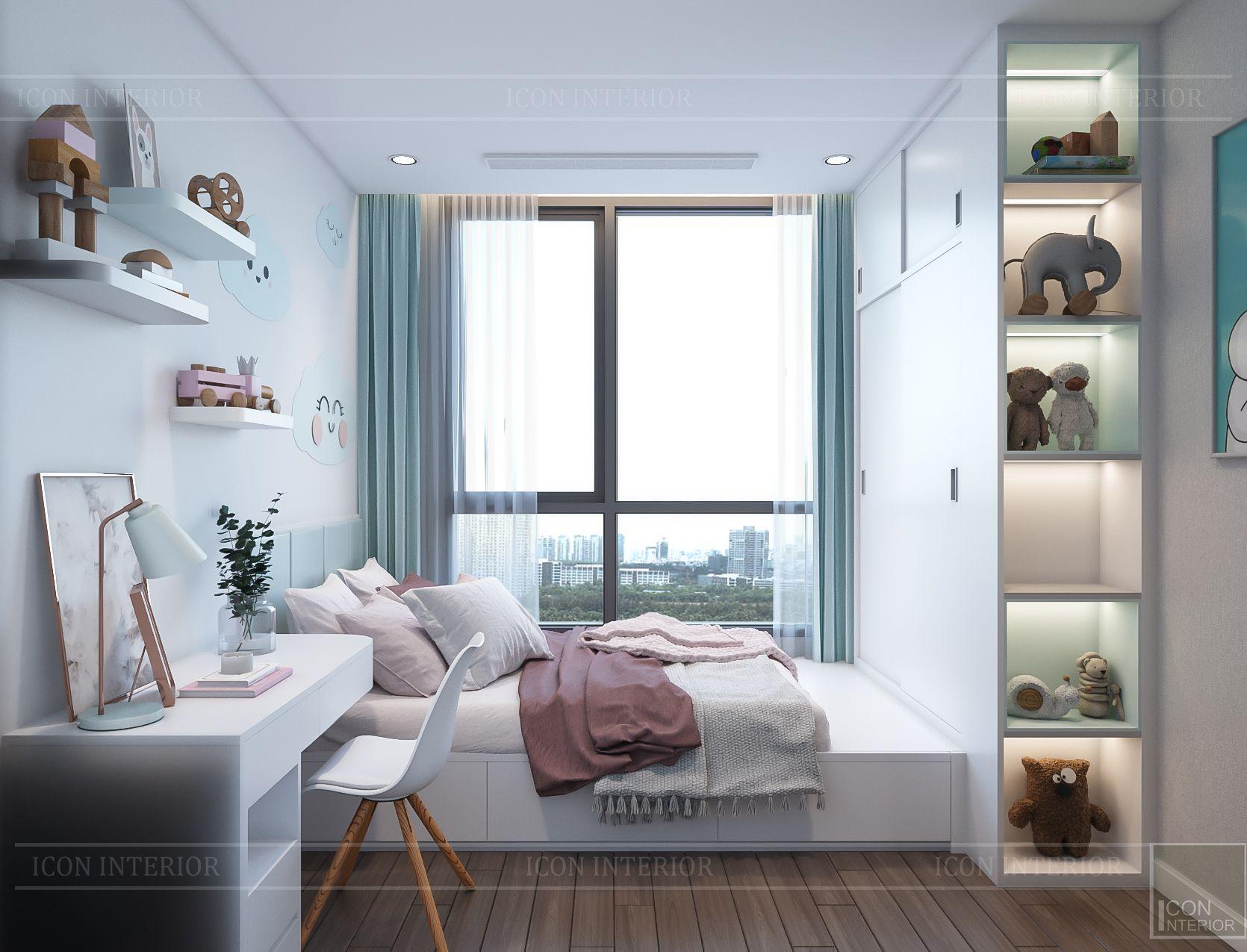 thiết kế nhà phong cách hiện đại - phòng ngủ bé 1