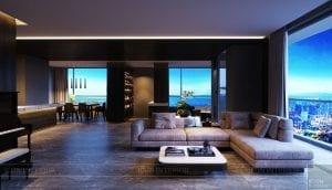 thiết kế nội thất liền kề 2 căn hộ landmark 1 4