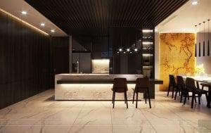 thiết kế nội thất liền kề - quầy bar 2