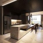 thiết kế nội thất liền kề - quầy bar 1