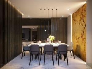 thiết kế nội thất liền kề - phòng ăn 1