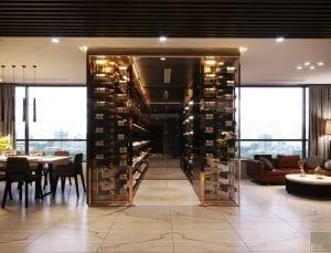 thiết kế nội thất liền kề - tủ rượu 1
