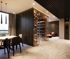 thiết kế nội thất liền kề - phòng ăn 3