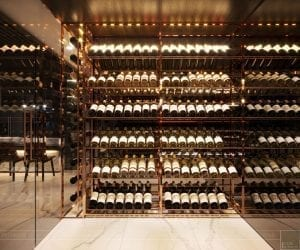 thiết kế nội thất liền kề - tủ rượu 2