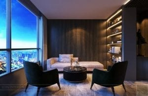 thiết kế nội thất liền kề 2 căn hộ landmark 1 9
