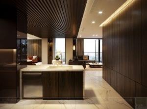thiết kế nội thất liền kề - phòng bếp 1