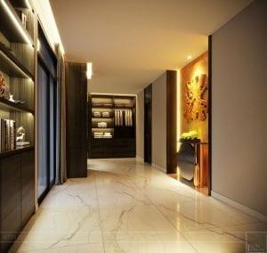 thiết kế nội thất liền kề - hành lang 1
