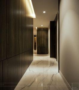 thiết kế nội thất liền kề - hành lang 4