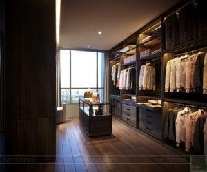 thiết kế nội thất liền kề - phòng thay đồ 1
