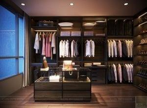 thiết kế nội thất liền kề - phòng thay đồ 2