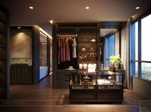 thiết kế nội thất liền kề - phòng thay đồ 3