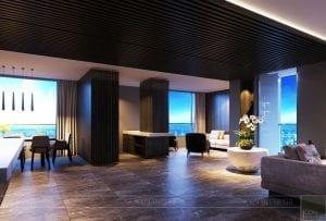 thiết kế nội thất liền kề 2 căn hộ landmark 1 1