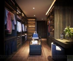 thiết kế nội thất liền kề - phòng thay đồ 4