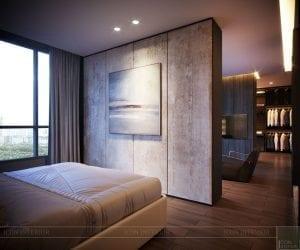 thiết kế nội thất liền kề - phòng ngủ master 4