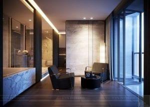 thiết kế nội thất liền kề - phòng thư giãn 1