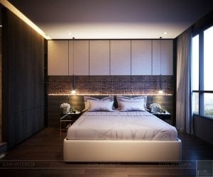 thiết kế nội thất liền kề - phòng ngủ master 2